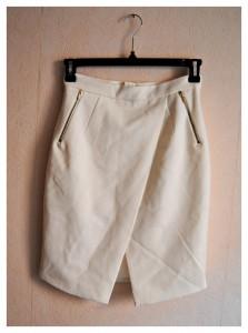 jupe ouverte blanche h&m