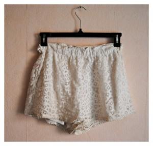 short blanc h&m