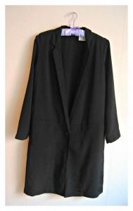 veste longue noir h&m